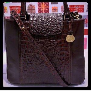 NWOT/ NEW BRAHMIN Croc Leather Double Handle Bag